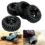 4PCS 1/10 12mm Off-road Vehicle Tyre Tires Rims Wheel Complete Remote Control Car Part