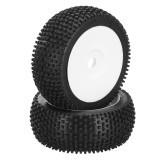 DHK Hobby 8381-722 Wheel Tyre Tire Complete White Rims 2pcs 1/8 8381 Optimus Remote Control Car Parts