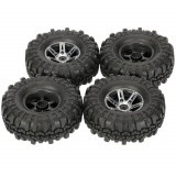 4Pcs AUSTAR AX-4020A 1.9 Inch 110mm 1/10 Remote Control Car Tires with Alloy Hub For D90 SCX10 AXAIL RC4WD TF2 R