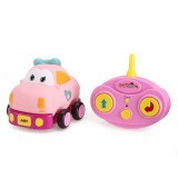 Beiens Electric Wireless Control Cartoon Mini Remote Control Car with LED Light Music without Battery Toys