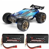 JLB Racing J3 Speed w/ 2 Battery 120A Upgraded 1/10 2.4G 4WD Truggy Remote Control Car Truck Vehicles RTR Model