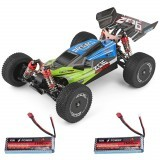 Wltoys 144001 1/14 2.4G 4WD High Speed Racing Remote Control Car Vehicle Models 60km/h Two Battery 7.4V 2600mAh