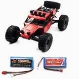 Feiyue FY03H with Two Battery 1500+3000mAh 1/12 2.4G 4WD Brushless Remote Control Car Metal Body Shell Truck RTR Toy